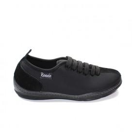 Chaussures basses avec lacets noir