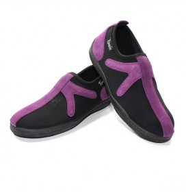 "Chaussures Noir/Mauve sans lacet ""X"""