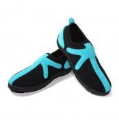 """Chaussures Noir/Turquoise sans lacet """"X"""""""