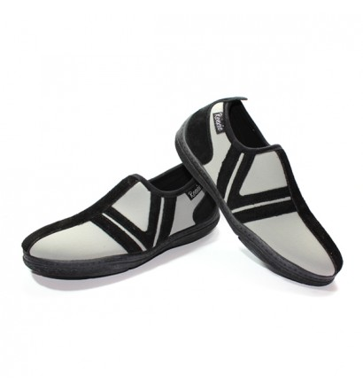Chaussure Gris/Noir sans lacet