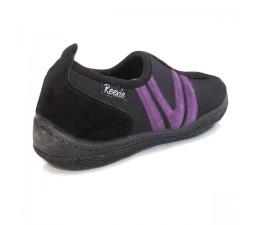 Chaussures Noir/Mauve sans lacet