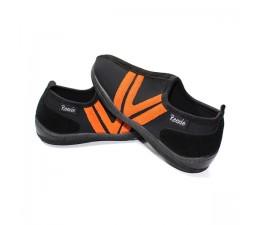 Chaussures Noir/Orange sans lacet