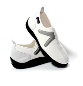 Chaussure Blanc/Gris sans lacet