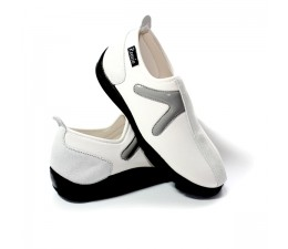 Chaussures Blanc/Gris sans lacet