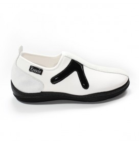 Chaussures Blanc/Noir sans lacet