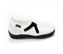 Chaussures Blanc/Noir sans lacet