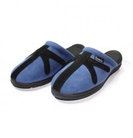 Mules Bleu/Noir