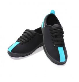 Chaussures basses Noir/Turquoise avec lacets