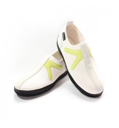 Chaussure Blanc/Vert sans lacet