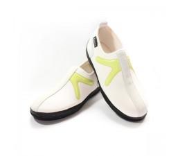 Chaussures Blanc/Vert sans lacet